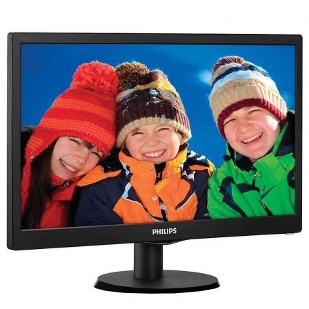 MONITOR LED PHILIPS 193V5LSB2 18.5' / 46.99CM 5MS 200CD/M2 16:9 10M:1 VGA SMART CONTROL LITE NEGRO