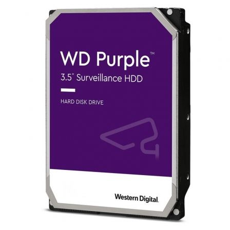 Disco Duro Western Digital WD Purple Surveillance 1TB/ 3.5'/ SATA III/ 64MB