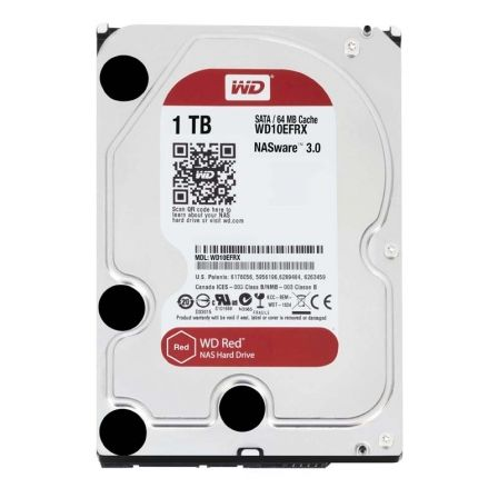 Disco Duro Western Digital Caviar Red 1TB/ SATA III/ 3.5'/ 64MB
