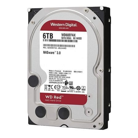 Disco Duro Western Digital WD Red NAS 6TB/ 3.5'/ SATA III/ 256MB